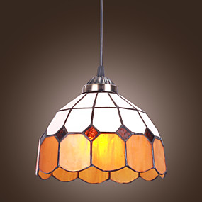 billige Tiffany Lamper-60W Tiffany Pendel med 1 lys Simple Design
