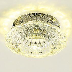 ราคาถูก ไฟเพดาน-LightMyself™ Flush Mount ดาวน์ไลท์ คริสตัล, Mini Style, LED 110-120โวลล์ / 220-240โวลต์ วอมไวท์ / สีขาวเย็น / แบบมี LED