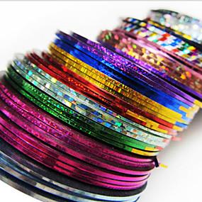 cheap Nail Art-24pcs mixs color striping tape line nail stripe tape nail art decoration sticker