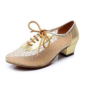 Недорогие Обувь и сумки-Жен. Обувь для модерна / Бальные танцы Кружева / Блестки На каблуках Пайетки На низком каблуке Не персонализируемая Танцевальная обувь
