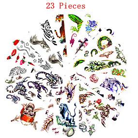 voordelige tattoo stickers-23 pcs Tatoeagestickers Tijdelijke tatoeages Dieren Series / Bloemen Series Waterbestendig / Non Toxic Lichaamskunst / Patroon / Waterproof