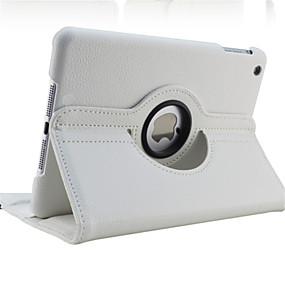 billige Nettbrettilbehør-Etui Til Apple iPad Mini 5 / iPad New Air (2019) / iPad Air 360° rotasjon / med stativ / Autodvale / aktivasjon Heldekkende etui Ensfarget Hard PU Leather / iPad (2017)