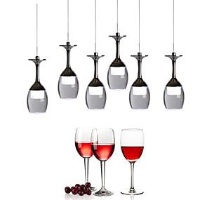 abordables Plafonniers-UMEI™ Nouveauté Lampe suspendue Lumière dirigée vers le bas Chrome Métal Acrylique Style mini, LED 90-240V Blanc Crème / Blanc Source lumineuse de LED incluse / LED Intégré