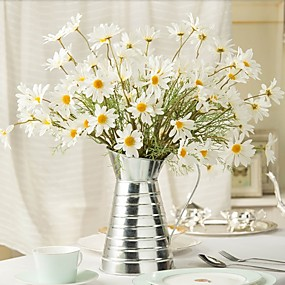 cheap Home & Garden-Artificial Flowers 1 Branch Pastoral Style Sunflowers Daisies Magnolia Tabletop Flower