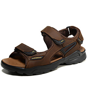 3474e15dff8b04 Men s Comfort Shoes Nappa Leather Spring   Summer Sandals Water Shoes Gray    Light Brown   Casual   Outdoor