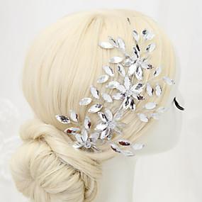 baratos Tiaras-Cristal / Strass / Liga Headbands com 1 Casamento / Ocasião Especial Capacete