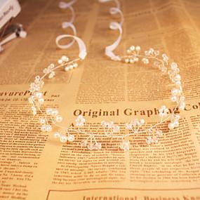baratos Tiaras-Cristal / Imitação de Pérola Headbands com 1 Casamento / Ocasião Especial / Ao ar livre Capacete