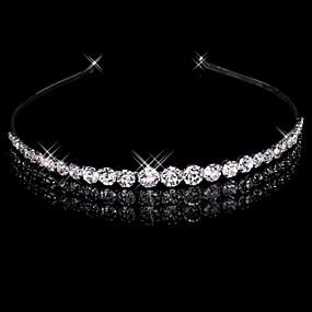 baratos Tiaras-Liga Headbands com 1 Casamento Capacete