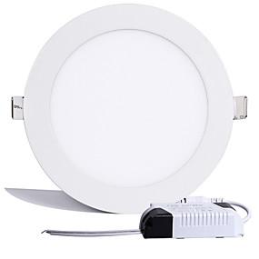 billige Innfelte LED-lys-15W Panellys 75 Høyeffekts-LED 1200LM lm Varm hvit Kjølig hvit Dekorativ AC 85-265 V 1 stk.