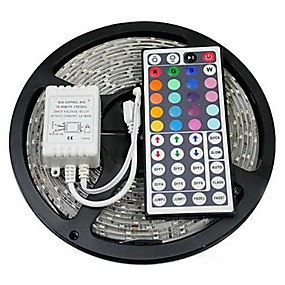 cheap Summer Sale-ZDM 5M 100LED String Lights IR 24 key Controller with 12V1A Power Mini Tiny LED Lamps on Flexible Thin Silver Wire Blinking Twinkle Steady
