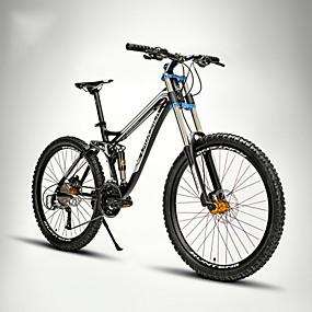 billige Udsalg-Mountain Bikes Cykling 27 trin 26 tommer (ca. 66cm) / 700CC SHIMANO M370 Olieskivebremse Springerforgaffel Blød haleramme Normal Aluminiumlegering