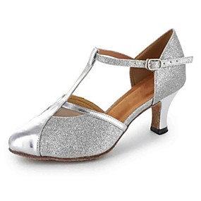 cheap Shoes & Bags & Jewelry & Watches-Women's Latin Shoes / Modern Shoes / Salsa Shoes Leatherette Heel Buckle Customized Heel Customizable Dance Shoes Black / Silver / Gold / Practice