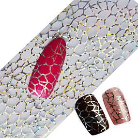 ab1d87b50 100x4cm Latest Glitter Nail Art Full Tips Wraps DIY Cobweb Sexy Nail Foils  Transfer Polish Adhesive Sticker Nail Decals