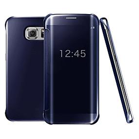 hesapli Cep Telefonu Kılıfları-Pouzdro Uyumluluk Samsung Galaxy S9 / S9 Plus / S8 Plus Kaplama / Ayna / Flip Tam Kaplama Kılıf Solid Sert PC / Şeffaf