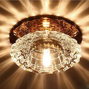 ieftine Φωτιστικά-Lumini Tavan Fixe Lumini Ambientale Altele Cristal Cristal, LED 220-240V Alb Cald