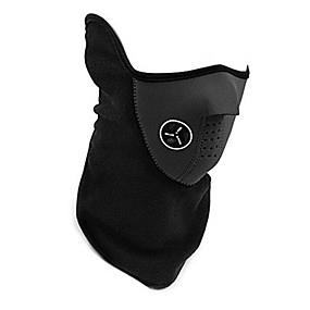 cheap Balaclavas & Face Masks-Sports Mask Pollution Protection Mask Men's Women's Skiing Cycling / Bike Winter Sports Bike / Cycling Thermal / Warm Windproof Breathable Solid Color Black Red Blue / Mountain Bike MTB