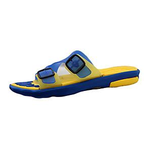 baratos Sandálias e Chinelos Masculinos-Homens Sapatos Confortáveis Silicone Primavera / Verão / Outono Chinelos e flip-flops Caminhada Antiderrapante Preto / Vermelho / Amarelo / Azul