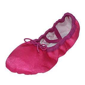 billige Sko og vesker-Dansesko Silke Ballettsko Flate Flat hæl Kan ikke spesialtilpasses Fuksia / Grønn / Blå / Innendørs / EU39