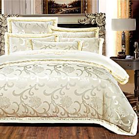 halpa Luxury pussilakanat-pussilakanasetit ylellisyyttä silkki kirjonta 4 kpl vuodevaatteet setit / 500 / 4kpl (1 pussilakana, 1 tasainen arkki, 2 shams) kuningatar