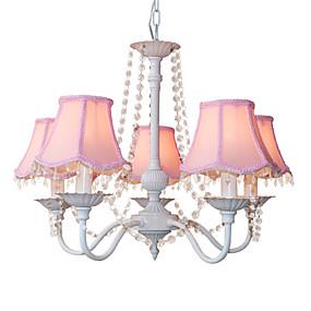 povoljno Kids Room-5-Light Lusteri Downlight Others Metal Fabric Crystal, Mini Style, dizajneri 110-120V / 220-240V Bulb not included / E12 / E14