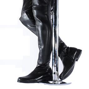 halpa Miesten saappaat-Miesten Fashion Boots Synteettinen Syksy / Talvi Moottoripyöräsaappaat Bootsit Polvisaappaat Musta / Juhlat