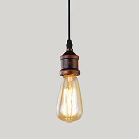 billiga Hängande belysning-Hängande lampor Glödande Rektangulär Metall Ministil 110-120V / 220-240V Varmt vit Glödlampa inte inkluderad / E26 / E27