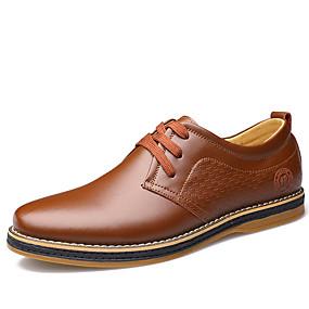 baratos Oxfords Masculinos-Homens Sapatos formais Pele Primavera Casual Oxfords Caminhada Preto / Marron / Sapatos de couro / Sapatos Confortáveis / EU40