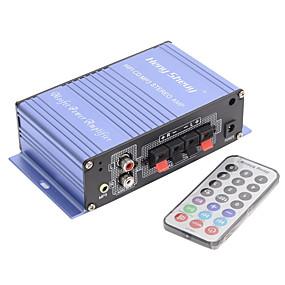 tanie Sprzęt audio samochodowy-amplificador przenośny muzyczny stereo Karta graczem wyjście wzmacniacza mocy karty USB / SD