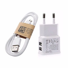 cheap Phone Cables & Chargers-Home Charger / Portable Charger USB Charger EU Plug Fast Charge 2 USB Ports 3.1 A for