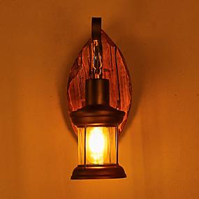 저렴한 야외 벽 조명-벽 빛 다운라이트 벽 램프 40WW 220v 110V E26 E27 러스틱/ 롯지 빈티지 전통적/ 클래식 컨츄리 페인팅