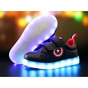 cheap Kids' Shoes-Boys' PU(Polyurethane) Sneakers Little Kids(4-7ys) / Big Kids(7years +) Comfort / Light Up Shoes LED White / Black Spring & Summer / TR / EU36