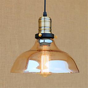 billige Hengelamper-Bowl Anheng Lys Omgivelseslys Krom Metall Glass Mini Stil, designere 110-120V / 220-240V Pære Inkludert / E26 / E27