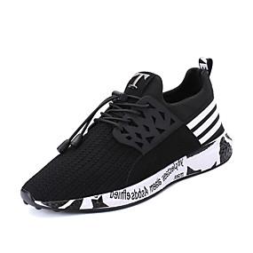 cheap Men's Athletic Shoes-Men's Comfort Shoes PU(Polyurethane) Spring / Fall Athletic Shoes Walking Shoes Slip Resistant Black / Gray / Blue / Lace-up