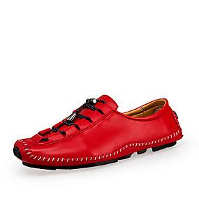 voordelige Wijdere maten schoenen-Heren Comfort schoenen Leer Lente / Herfst Oxfords Zwart / Rood / Bruin / Feesten & Uitgaan / Feesten & Uitgaan / EU42