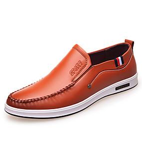 8e69d1ba292 Hombre Fashion Boots Cuero Sintético Primavera   Otoño Confort Oxfords  Paseo Impermeable Negro   Amarillo   Fiesta y Noche