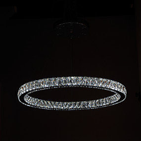 cheap Chandeliers-Circular Chandelier Downlight Electroplated Metal Crystal, LED 90-240V Warm White / Cold White LED Light Source Included / LED Integrated / 4-pin
