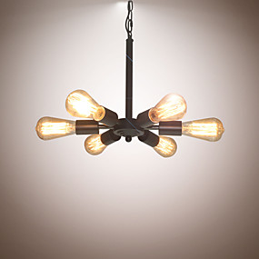 cheap Chandeliers-6-Light Chandelier Ambient Light Painted Finishes Metal Designers 110-120V / 220-240V Bulb Not Included / E26 / E27