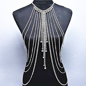 cheap National promotion-Crystal Body Chain Crystal Dainty, Ladies, Bohemian, Natural, Fashion Women's Gold / Silver Body Jewelry For Special Occasion / Gift / Casual