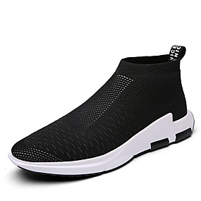 cheap Men's Athletic Shoes-Men's Comfort Shoes Tulle Spring / Fall Casual Sneakers Black / Gray / Red / Athletic / Outdoor / EU40