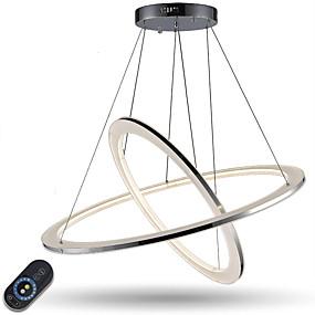 billige Hengelamper-Anheng Lys Omgivelseslys galvanisert Metall Akryl Mulighet for demping, LED, Dimbar med fjernkontroll 110-120V / 220-240V LED lyskilde inkludert / Integrert LED