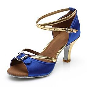0d981d00501a cheap Dance Shoes-Women  039 s Latin Shoes Satin Sandal   Heel Buckle