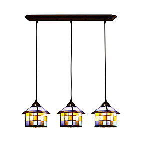 abordables Lampe Tiffany-Lampe suspendue Lumière d'ambiance - LED Designers, Tiffany, 110-120V 220-240V Ampoule non incluse