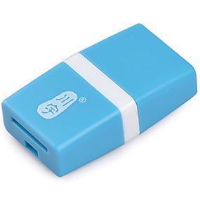 abordables Lecteurs et stockage-Lecteur de carte kawau usb 2.0 lecteur de carte tf lecteur de carte micro sd / t-flash