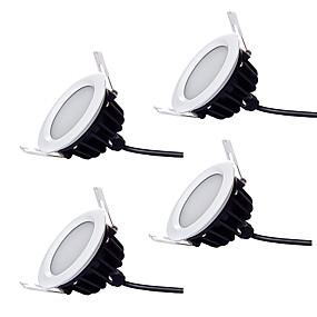 billige Innfelte LED-lys-zdm 4pcs dimmable vanntett ip66 7w 600-700lm 35 x 5730 sdm LEDer høy kvalitet kommersiell belysning downlights varm hvit / kald hvit ac220-240v