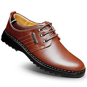 voordelige Wijdere maten schoenen-Heren Formele Schoenen Synthetisch Zomer / Herfst Oxfords Wandelen Zwart / Marineblauw / Bruin / Bruiloft / Combinatie / Comfort schoenen / EU40