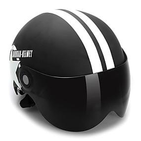 cheap Motorcyle Helmets-Motorcycle Helmet Half Open Face Adjustable Size Protection Gear Head Helmets Unisex Five-pointed Star Black Newest