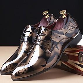 voordelige Dagelijkse Deals-Heren Oxfords afdrukken Lakleer Lente / Herfst Oxfords Rood / Blauw / Lichtbruin / Feesten & Uitgaan / Feesten & Uitgaan / ulko- / Comfort schoenen / EU40