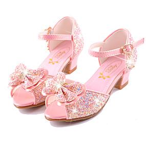 お買い得  子供シューズ-女の子 靴 マイクロファイバー 夏 コンフォートシューズ / アイデア / フラワーガールシューズ サンダル ウォーキング リボン / ベックル のために ホワイト / ブルー / ピンク / パーティー