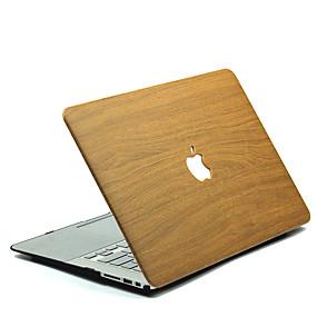 voordelige Mac-accessoires-MacBook Hoes Houtnerf polykarbonaatti voor MacBook 12'' / MacBook 13'' / MacBook Air 11''