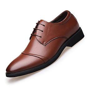 baratos Oxfords Masculinos-Homens Sapatos formais Microfibra Primavera / Outono Negócio Oxfords Caminhada Preto / Marron / Casamento / Festas & Noite / Tachas / Combinação / Festas & Noite
